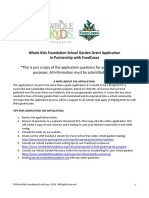 2019 WKF School Garden Grant Application