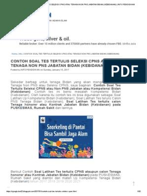 Soal Cpns 2021 Pdf Informasi Cpns Asn Indonesiainfo Cpns Asn Indonesia 2021