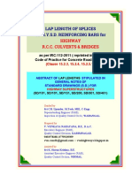 Venkat_Lap Lengths Tables for Highway Culverts Bridges and Structures as Per IRC 112 2011