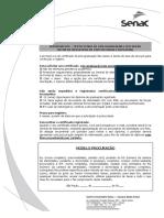 Formalização Para Obtenção Do Certificado