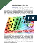Agen Domino QQ Online Terbaru 2019