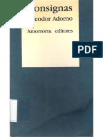ADORNO, Theodor, Consignas
