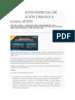Reglamento Especial de Habilitación Urbana y Edificación