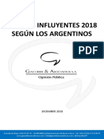 Los más influyentes 2018 según los argentinos