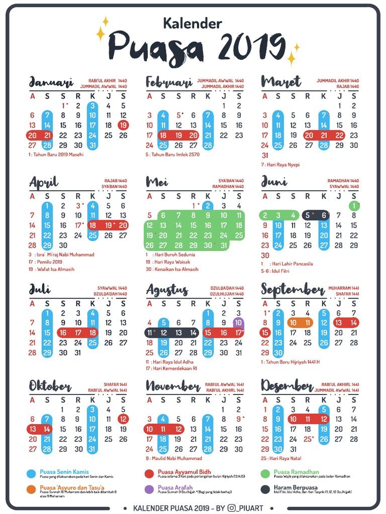 Download Kalender Puasa Sunnah 2019 Pdf