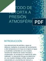 Método de Retorta a Presión Atmosférica