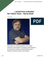 Zizek_2018_How Mao Would Have Evaluated the Yellow Vests – Slavoj Zizek