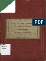 Colonel Marey - Memoir on Swords