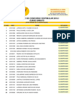 Resultados 2019 1 Vestibular de Direito