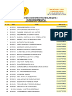 2019 1 Vestibular de Fisioterapia