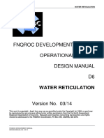D6 Water Reticulation Design Manual - FNQROC Development Manual - 03 14 Finalised