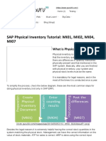 SAP Physical Inventory