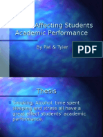 14. Factors Affecting Academic Performance - St Pius X
