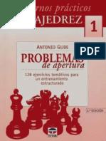01 Antonio Gude - Carderno Prático de Xadrez (Problemas de Aberturas) - vol 01.pdf