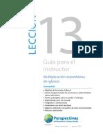 13_GUIA PARA EL INSTRUCTOR — LECCIÓN 13_Versión preliminar
