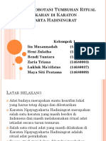Kajian Etnobotani Tumbuhan Ritual Adat Pernikahan Di Karaton Yogyakarta