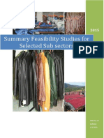 Fisibility Study Ex Summary (Ministry of Industry) 2016
