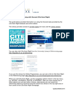 Guide to Using Harvard Cite Them Right