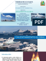 CALENTAMIENTO GLOBAL Exposición de Contaminacion Ambiental