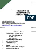 Determinacion de Cero Hidrografico en Obras Portuarias