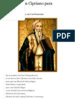 Oración a san Cipriano for protection and exorcism