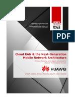 Cloud RAN nextgen architecture