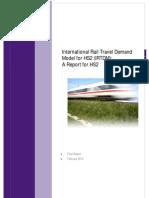 International Rail Travel Demand Model for HS2