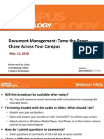 Per513 Document Management Tame the Paper Chase Across Your Campus