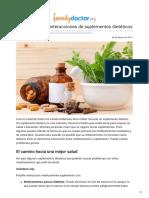 Es.familydoctor.org-Ejemplos de Las Interacciones de Suplementos Dietéticos