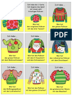 Lesespiel Kitschige Weihnachtspullover Ich Habewer Aktivitaten Spiele Aktivitatskarten Aussprache Bil 84329 (1)