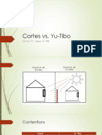 Cortes vs Yu-Tibo