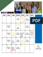 Calendar January 2019