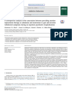 A retrospective analysis of the association between providing nicotine replacement therapy at admission and motivation to quit and nicotine withdrawal symptoms during an inpatient psychiatric hospitalization