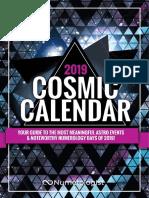 2019 Cosmic Calendar