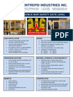 Double bar self-closing safety gate