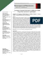 Assessment of genetic diversity in different Chilli (Capsicum annuum L.) genotypes