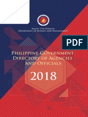 2018-govt-directory pdf | Metro Manila | President Of The Philippines