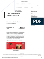 Criollismo de Vanguardia