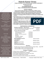 Sample Resume for IT infrastructure professional