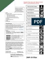 2009 2010 Honda Pilot Service Manual