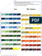 RAL & BS Color Card