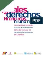 Información sobre matrimonio entre parejas del mismo sexo en Colombia