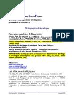 Management Stratégique Bibliographie Thématique
