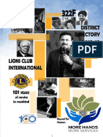 Lions District 322f Directory 2018-19