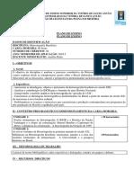 Plano de Ensino. Historiografia Brasileira