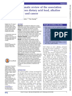 Systematic Review of the Association Between Dietary Acid Load, Alkaline Water and Cancer