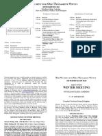 SOTS Winter Meeting Program, 2019