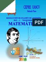 Resolución del examen cepre uancv matemática