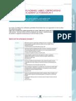 Différences entre Norme Certification Labellisation