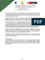 Convocatoria de Experiencias para participar del I Congreso Peruano de Educación Ambiental